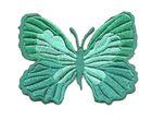 Applikation Patch Schmetterling 7,3 x 5,5cm Farbe: Nachtgrün