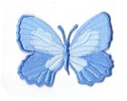 Applikation Patch Schmetterling 7,3 x 5,5cm Farbe: Hellblau