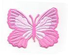 Applikation Patch Schmetterling 7,3 x 5,5cm Farbe: Pink