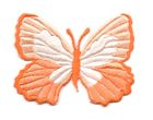 Applikation Patch Schmetterling 7,3 x 5,5cm Farbe: Orange