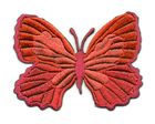 Applikation Patch Schmetterling 7,3 x 5,5cm Farbe: Rot