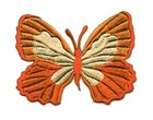 Applikation Patch Schmetterling 7,3 x 5,5cm Farbe: Terracotta