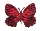Applikation Patch Schmetterling 7,3 x 5,5cm Farbe: Dunkelrot