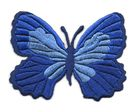 Applikation Patch Schmetterling 7,3 x 5,5cm Farbe: Blau