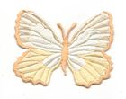 Applikation Patch Schmetterling 7,3 x 5,5cm Farbe: Beige