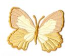 Applikation Patch Schmetterling 7,3 x 5,5cm Farbe: Ocker
