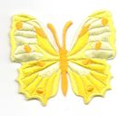 Applikation Patch Schmetterling 6,5 x 5,5cm Farbe: Gelb
