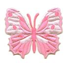 Applikation Patch Schmetterling 6,5 x 5,5cm Farbe: Rosa
