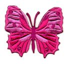 Applikation Patch Schmetterling 6,5 x 5,5cm Farbe: Fuchsia