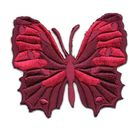 Applikation Patch Schmetterling 6,5 x 5,5cm Farbe: Dunkelrot