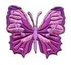 Applikation Patch Schmetterling 6,5 x 5,5cm Farbe: Lila