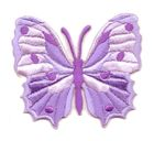 Applikation Patch Schmetterling 6,5 x 5,5cm Farbe: Flieder
