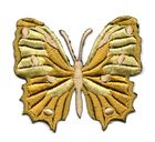 Applikation Patch Schmetterling 6,5 x 5,5cm Farbe: Braun
