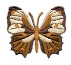 Applikation Patch Schmetterling 6,5 x 5,5cm Farbe: Dunkelbraun