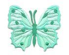 Applikation Patch Schmetterling 6,5 x 5,5cm Farbe: Hellgrün