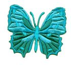 Applikation Patch Schmetterling 6,5 x 5,5cm Farbe: Türkis