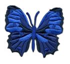 Applikation Patch Schmetterling 6,5 x 5,5cm Farbe: Dunkelblau