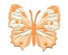 Applikation Patch Schmetterling 6,5 x 5,5cm Farbe: Orange