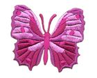 Applikation Patch Schmetterling 6,5 x 5,5cm Farbe: Violett