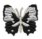 Applikation Patch Schmetterling 6,5 x 5,5cm Farbe: Schwarz