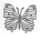Applikation Patch Schmetterling 6,5 x 5,5cm Farbe: Grau