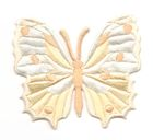 Applikation Patch Schmetterling 6,5 x 5,5cm Farbe: Beige