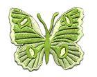 Applikation Patch Schmetterling 6,7 x 5,7cm Farbe: Hellgrün