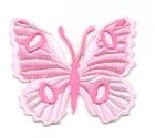 Applikation Patch Schmetterling 6,7 x 5,7cm Farbe: Pink