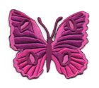Applikation Patch Schmetterling 6,7 x 5,7cm Farbe: Violett