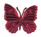 Applikation Patch Schmetterling 6,7 x 5,7cm Farbe: Dunkelrot