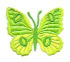 Applikation Patch Schmetterling 6,7 x 5,7cm Farbe: Neongrün
