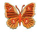 Applikation Patch Schmetterling 6,7 x 5,7cm Farbe: Orange
