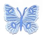 Applikation Patch Schmetterling 6,7 x 5,7cm Farbe: Hellblau