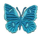Applikation Patch Schmetterling 6,7 x 5,7cm Farbe: Blau-Grün