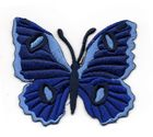 Applikation Patch Schmetterling 6,7 x 5,7cm Farbe: Dunkelblau