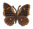 Applikation Patch Schmetterling 6,7 x 5,7cm Farbe: Dunkelbraun