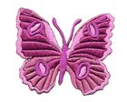 Applikation Patch Schmetterling 6,7 x 5,7cm Farbe: Magenta