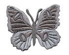 Applikation Patch Schmetterling 6,7 x 5,7cm Farbe: Dunkelgrau
