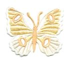 Applikation Patch Schmetterling 6,7 x 5,7cm Farbe: Beige