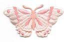 Applikation Patch Schmetterling 8,3 x 4,5cm Farbe: Beige
