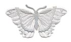 Applikation Patch Schmetterling 8,3 x 4,5cm Farbe: Grau