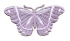 Applikation Patch Schmetterling 8,3 x 4,5cm Farbe: Brombeer