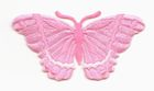 Applikation Patch Schmetterling 8,3 x 4,5cm Farbe: Rosa