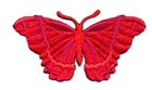 Applikation Patch Schmetterling 8,3 x 4,5cm Farbe: Rot