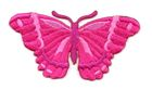 Applikation Patch Schmetterling 8,3 x 4,5cm Farbe: Fuchsia