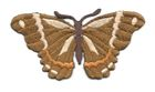 Applikation Patch Schmetterling 8,3 x 4,5cm Farbe: Braun