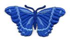 Applikation Patch Schmetterling 8,3 x 4,5cm Farbe: Royalblau