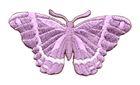 Applikation Patch Schmetterling 8,3 x 4,5cm Farbe: Flieder