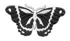Applikation Patch Schmetterling 8,3 x 4,5cm Farbe: Schwarz