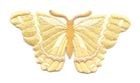 Applikation Patch Schmetterling 8,3 x 4,5cm Farbe: Goldocker